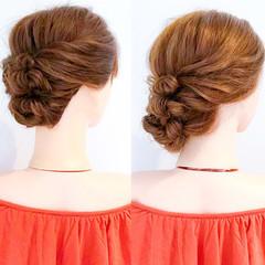 アウトドア 簡単ヘアアレンジ エレガント オフィス ヘアスタイルや髪型の写真・画像