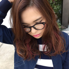 ボーイッシュ インナーカラー 大人かわいい フレンチセピアアッシュ ヘアスタイルや髪型の写真・画像