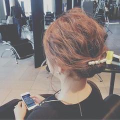 ヘアアレンジ ミディアム 透明感 外国人風 ヘアスタイルや髪型の写真・画像