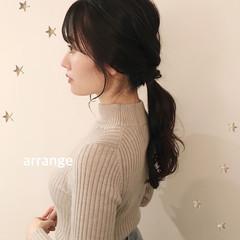大人かわいい 簡単ヘアアレンジ ミディアム ヘアアレンジ ヘアスタイルや髪型の写真・画像