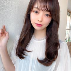 流し前髪 小顔ヘア 前髪パーマ ナチュラル ヘアスタイルや髪型の写真・画像