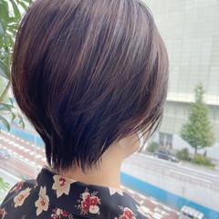 ナチュラル 大人ショート ショートヘア ハイライト ヘアスタイルや髪型の写真・画像