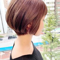 ショートヘア オフィス ナチュラル ショート ヘアスタイルや髪型の写真・画像