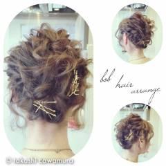 コンサバ ツイスト 結婚式 ヘアピン ヘアスタイルや髪型の写真・画像