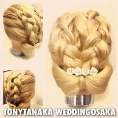 まとめ髪 コンサバ ヘアアレンジ 結婚式 ヘアスタイルや髪型の写真・画像