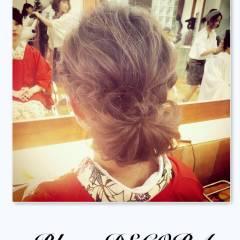 ヘアアレンジ ストリート まとめ髪 編み込み ヘアスタイルや髪型の写真・画像