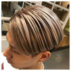 ショート コントラストハイライト モード ショートヘア ヘアスタイルや髪型の写真・画像