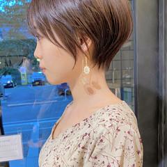ベリーショート マッシュショート ひし形シルエット ナチュラル ヘアスタイルや髪型の写真・画像