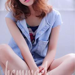 外国人風 夏 パーマ ストリート ヘアスタイルや髪型の写真・画像