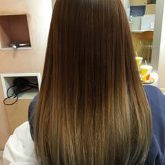 ブラウン セミロング アッシュブラウン アッシュ ヘアスタイルや髪型の写真・画像