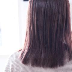 パープル パープルカラー パープルアッシュ ナチュラル ヘアスタイルや髪型の写真・画像