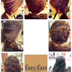 編み込み ヘアアレンジ ハーフアップ まとめ髪 ヘアスタイルや髪型の写真・画像