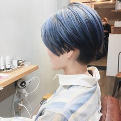 ショート アッシュグレージュ ショートボブ ラベンダーピンク ヘアスタイルや髪型の写真・画像