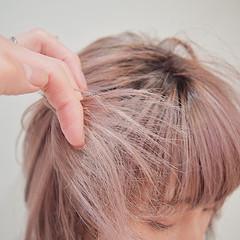 ピンクアッシュ ベリーピンク ピンク ショート ヘアスタイルや髪型の写真・画像