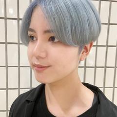 ブルーアッシュ アッシュグレージュ アッシュベージュ ナチュラル ヘアスタイルや髪型の写真・画像