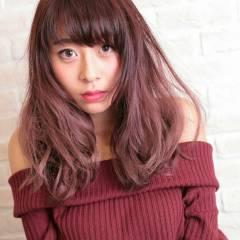 秋 ガーリー ゆるふわ マルサラ ヘアスタイルや髪型の写真・画像
