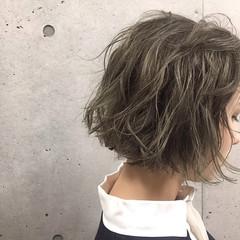 ワンレングス 外国人風 グラデーションカラー アッシュ ヘアスタイルや髪型の写真・画像
