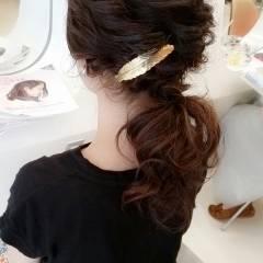 愛され コンサバ フェミニン 丸顔 ヘアスタイルや髪型の写真・画像