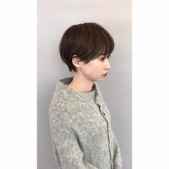 マッシュショート ショート 大人かわいい ショートヘア ヘアスタイルや髪型の写真・画像