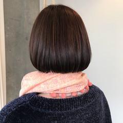 オフィス イルミナカラー デート ボブ ヘアスタイルや髪型の写真・画像