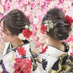 デート 結婚式 成人式 ヘアアレンジ ヘアスタイルや髪型の写真・画像