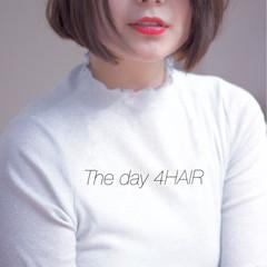 ボブ ブラントカット モード 透明感 ヘアスタイルや髪型の写真・画像
