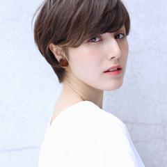 ラフ ナチュラル かっこいい ショート ヘアスタイルや髪型の写真・画像