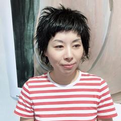 無造作パーマ ショート ストリート ウルフカット ヘアスタイルや髪型の写真・画像