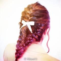パーティ ロング 編み込み 大人かわいい ヘアスタイルや髪型の写真・画像