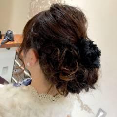 ゆるふわ 結婚式 ヘアアレンジ ハーフアップ ヘアスタイルや髪型の写真・画像