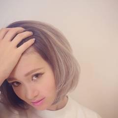 外国人風 グラデーションカラー 春 ボブ ヘアスタイルや髪型の写真・画像