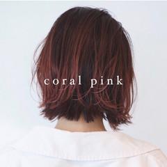 ボブ ラベンダーピンク ピンクパープル グラデーションカラー ヘアスタイルや髪型の写真・画像