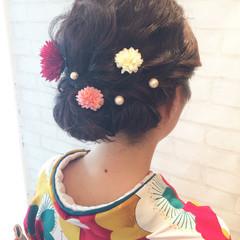 和装 結婚式 アップスタイル ヘアアレンジ ヘアスタイルや髪型の写真・画像
