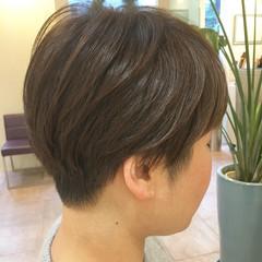 マッシュショート 刈り上げショート マッシュ ショート ヘアスタイルや髪型の写真・画像
