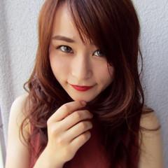 かわいい ナチュラル セミロング 色気 ヘアスタイルや髪型の写真・画像