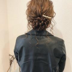 アップ ヘアセット 結婚式 フェミニン ヘアスタイルや髪型の写真・画像