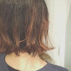 ボブ 冬 大人かわいい フェミニン ヘアスタイルや髪型の写真・画像