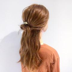 アウトドア 簡単ヘアアレンジ ヘアアレンジ ナチュラル ヘアスタイルや髪型の写真・画像