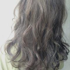 アッシュ 黒髪 ハイライト ナチュラル ヘアスタイルや髪型の写真・画像