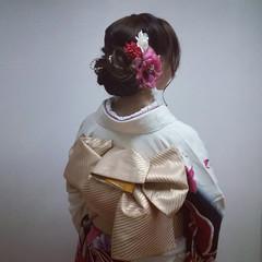 まとめ髪 ロング 成人式 ヘアアレンジ ヘアスタイルや髪型の写真・画像