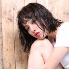 黒髪 ショート ストリート モテ髪 ヘアスタイルや髪型の写真・画像