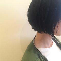 ナチュラル ボブ ウェットヘア ヘアスタイルや髪型の写真・画像