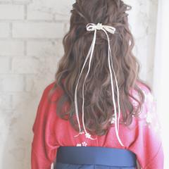 大人かわいい ヘアアレンジ 袴 簡単ヘアアレンジ ヘアスタイルや髪型の写真・画像