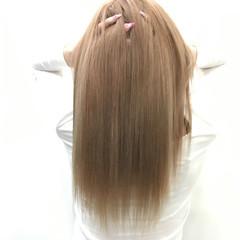 ピンク ロング ハイトーン イルミナカラー ヘアスタイルや髪型の写真・画像