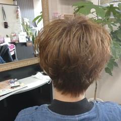 ナチュラル ショート ヘアカラー ショートパーマ ヘアスタイルや髪型の写真・画像