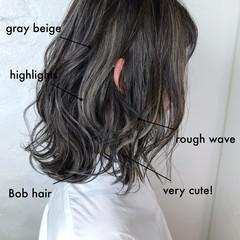 スポーツ ミディアム 抜け感 ハイライト ヘアスタイルや髪型の写真・画像