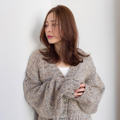 メイクテク セミロング コスメ・メイク 大人女子 ヘアスタイルや髪型の写真・画像