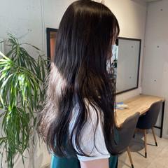 ミントアッシュ 暗髪 透明感カラー ナチュラル ヘアスタイルや髪型の写真・画像