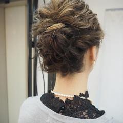 ナチュラル ヘアアレンジ ミディアム 編み込み ヘアスタイルや髪型の写真・画像