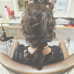 セミロング まとめ髪 ショート ゆるふわ ヘアスタイルや髪型の写真・画像